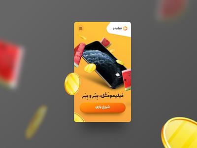 Online game Landing page digital campaign yalda responsive web design mobile design advertising ui landingpage game ui