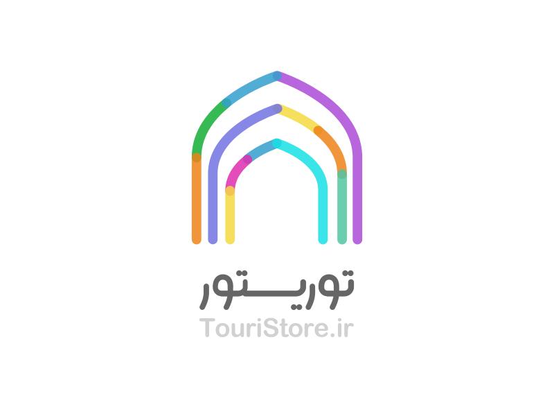 TouriStore Logo logo branding color farsi type tourist store traditional iran startup