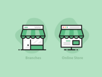Branches VS Online Store