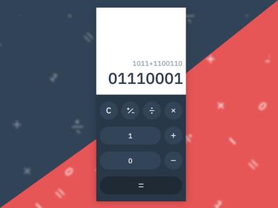 Binary Calc  ·  DailyUI 004