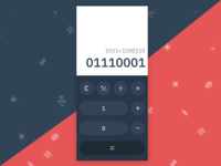 Binary Calc  ·  DailyUI 004