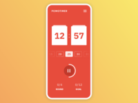 Countdown Pomodoro Timer · DailyUI 014