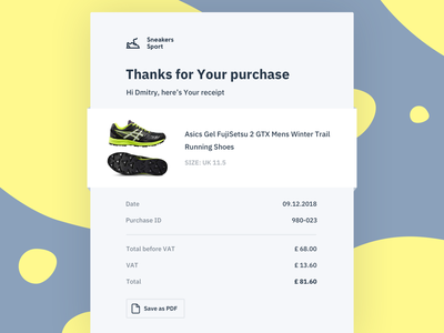 Email Receipt · DailyUI 017 purchase receipt email email receipt dailyui017 dailyui 017 dailyui 017