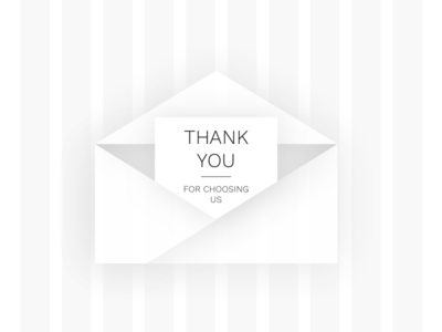 Thank you concept thanks thankyou icon graphics illustration uidesign paper page sent mail envelope