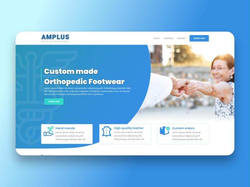 Custom Made Orthopedic Footwear icon ux branding typography logo webdesign ui sketch uidesign design
