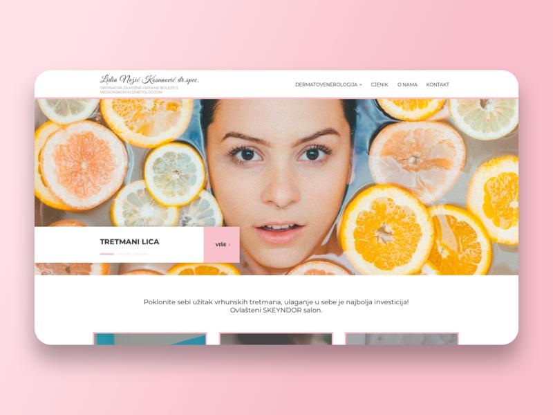 Beauty salon typography icon branding graphics illustration ui webdesign sketch uidesign design