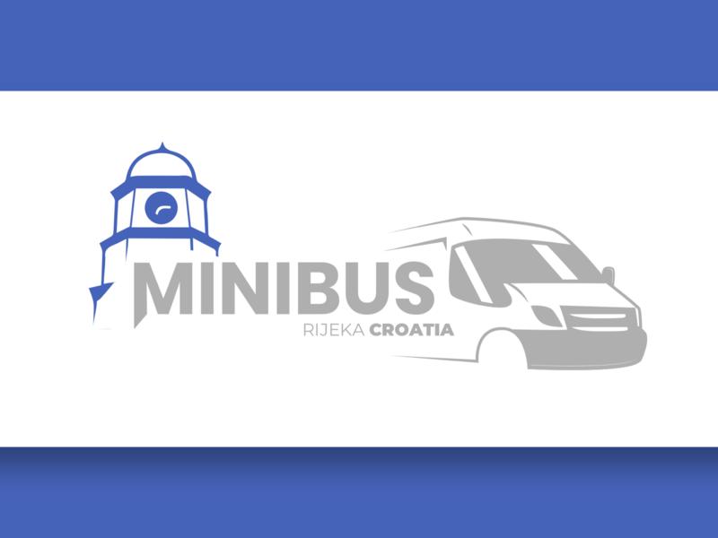 Minibus purple illustration app icon design graphics typography branding vector logo