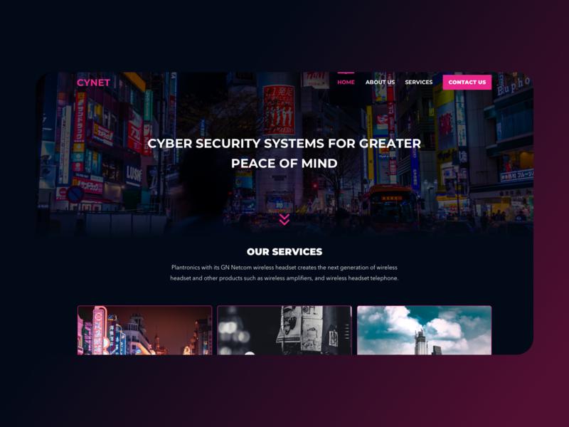 Cyber security cyberpunk illustration typography purple icon page graphics webdesign branding ui design