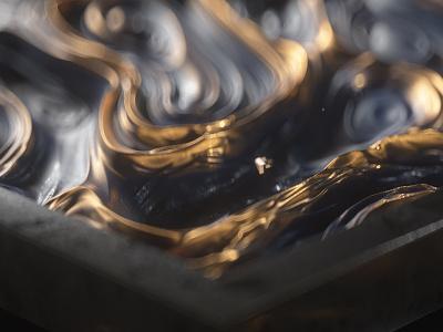 JOURNEY SAATCHI IS space saatchi and ssatchi is render octane metal journey ident gold creativity art animation