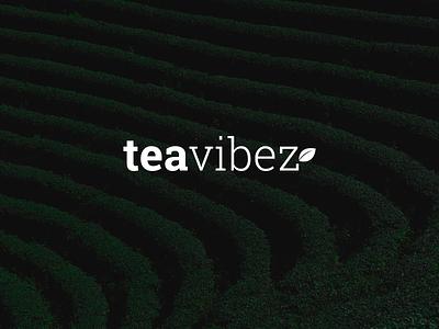 Tea Vibes Logo design green identity branding logo