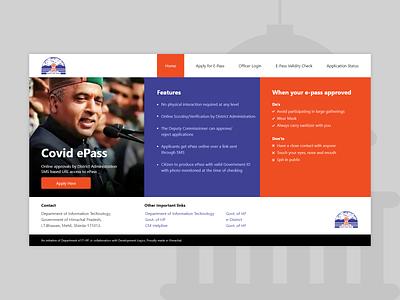 COVID e-Pass Application Design application interface ui government covid-19 covid epass ux identity design uiux brand identity branding website