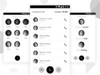 Wireframe of Confrence Call App