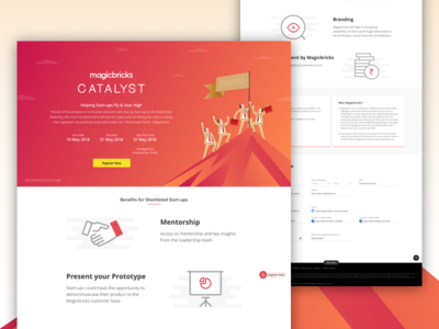 Event Landing & Registration Page onepage layoutdesign layout website prototype mentorship growth builders real estate agency startup catalyst real estate magicbricks
