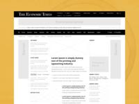 Economic Times Website Redesign
