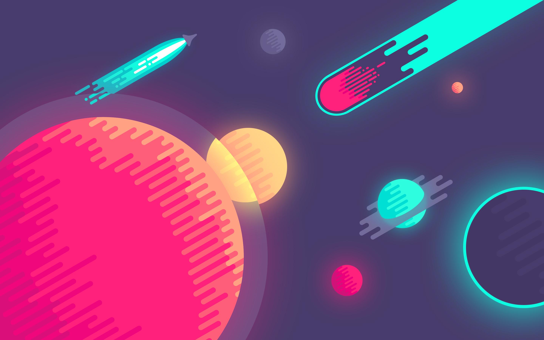 dribbble - space-desktopnina geometrieva