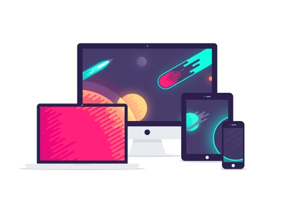 Dribbble space wallpaper