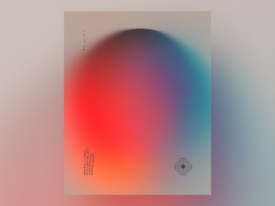 Color study poster in cyrillic gradient poster illustration