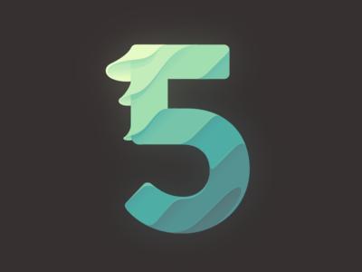5 five infographic illustration number