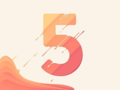 Melting 5 five colors illustration