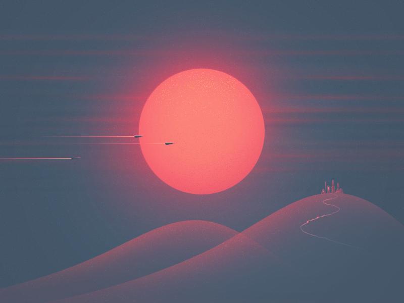 Red Dwarf sunset sunset illustration