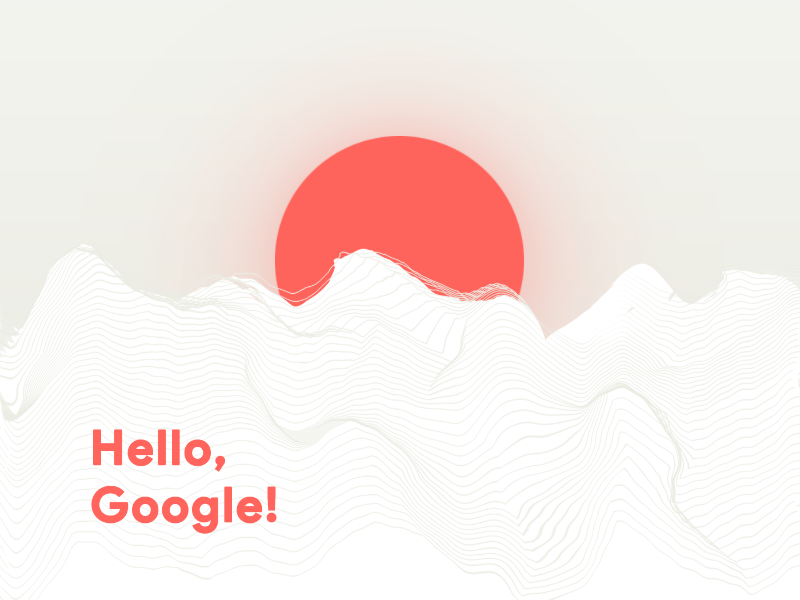 Hello google by nina geometrieva dribbble stopboris