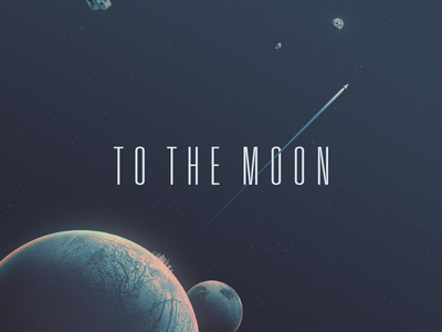 To the moon!┗(°0°)┛ cryptocurrency bitcoin space