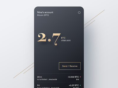 A wallet for digital gold bitcoin type gold crypto wallet ux ui