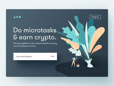 Landing page for a crypto startup