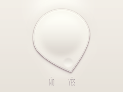 Yes or No? v.2 yes no ui interface knob toggle arrow button app application iphone switch notch user interface