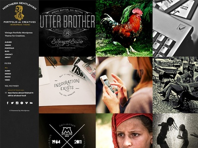 Northern Gentleman vintage development design web wordpress