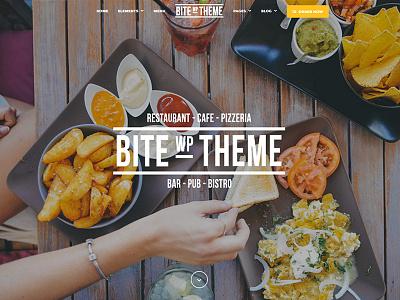 Bite food restaurant development design web wordpress