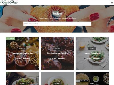 Veggiepress development design web wordpress