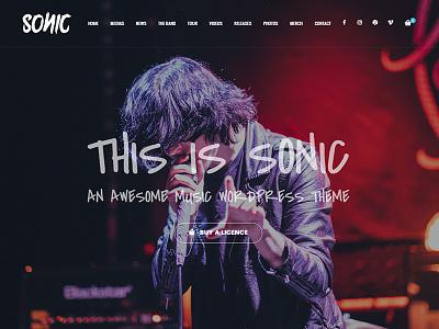 Sonic WordPress Theme music development design web wordpress
