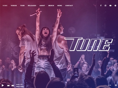 Tune - One-Page Music Theme one-page music wordpress