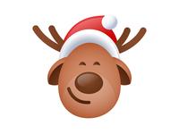 Festive deer emoji