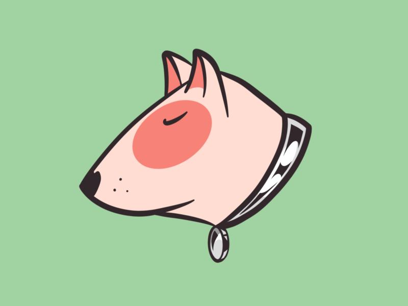 Bull Terrier icon logo design digital painting illustrator vector character illustration