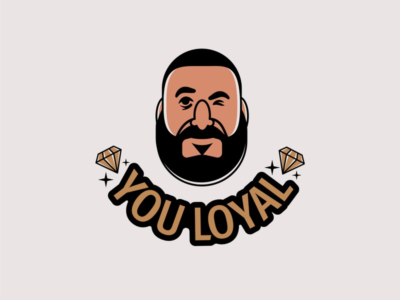 YOU LOYAL happy icon logo digital painting illustrator character vector illustration