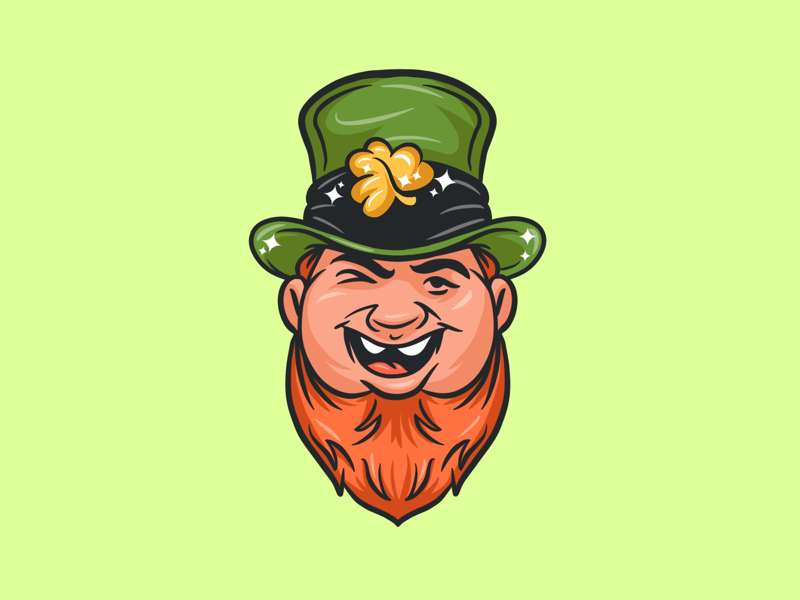 St. Patrick's Day Character cartoon cute sweet green irish whiskey beer leprecon happy icon character art illustrator drawing digital painting character illustration design