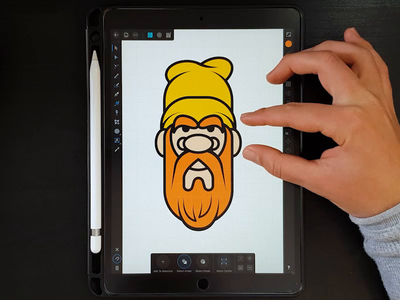 The Red Beard video process ipad punk red beard flat icon branding logo drawing design digital painting illustrator vector character illustration