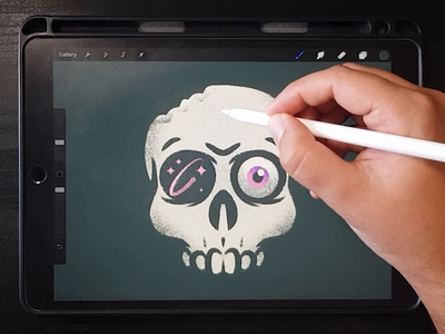 Texturing skull modern texture design drawing flat video process skateboard graphics painting skull digital art digital drawing digital painting illustrator character vector illustration