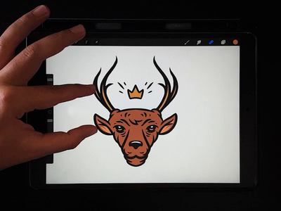 Digital Illustration - Dear video procreate animal art logo illustrator design drawing digital painting vector character illustration wildlife animal logo icon animal dear