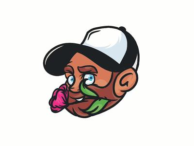 Romantic Guy - Speed Art digital drawing digital illustration digitalart flower speedart procreate cartoon face logo icon design drawing digital painting illustrator character vector illustration