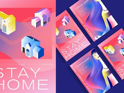 ❣️Stay Home - Illustration pabloladosa design branding illustration vector illustrator