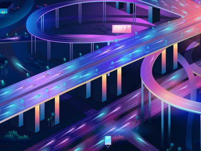 Intersection detail art arte art ladosa branding synthwave vectorart outrun design illustrator