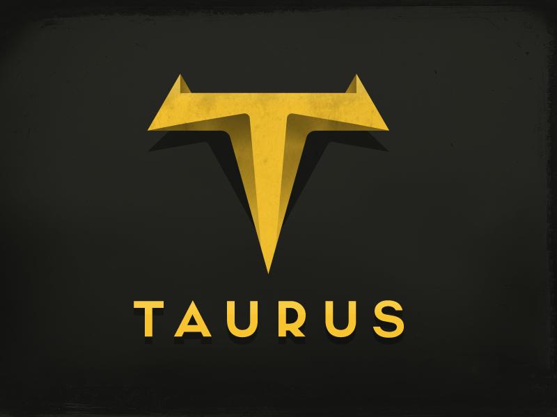Taurus Logo bison horn calf cattle butcher buffalo design bull squmorphisim horoscope taurus logo