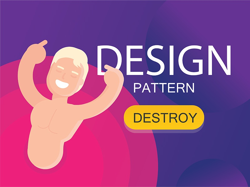 Design pattern flat typical ux ui character person design