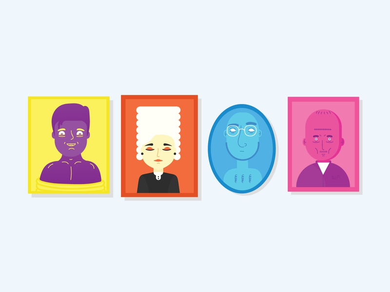 Peoples illustration picture vector characters persons peoples flat