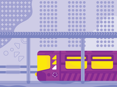 Train flat picture illustration train vector