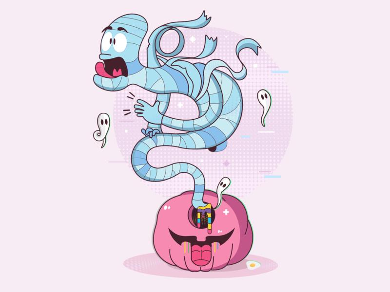 Genie Illustration graphic design vector cartoon digital drawing design character design illustration art