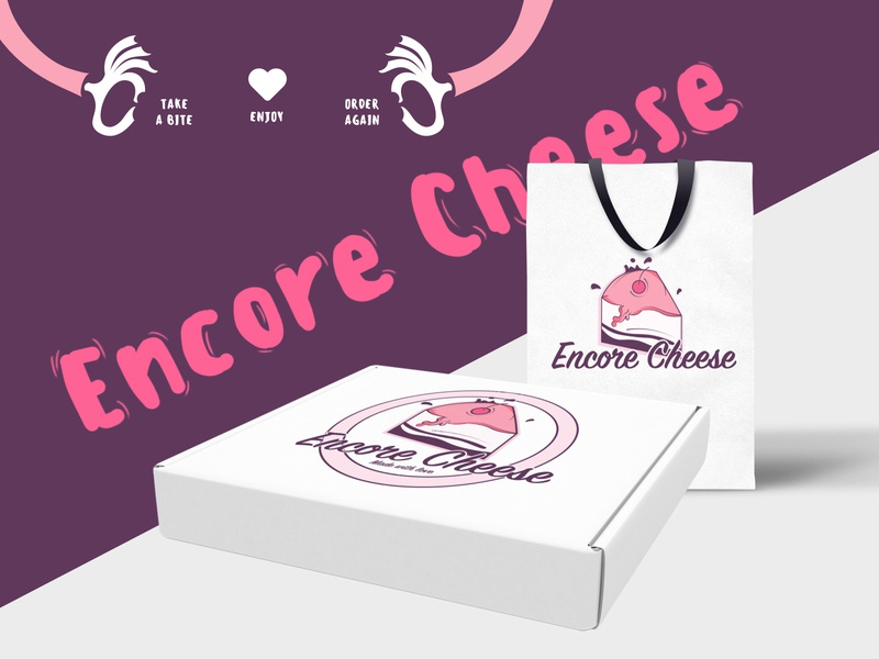 Encore Cheese Logo For Cheesecake lovers icons illustration art drawing character design graphic design digital drawing vector branding cartoon illustration logo